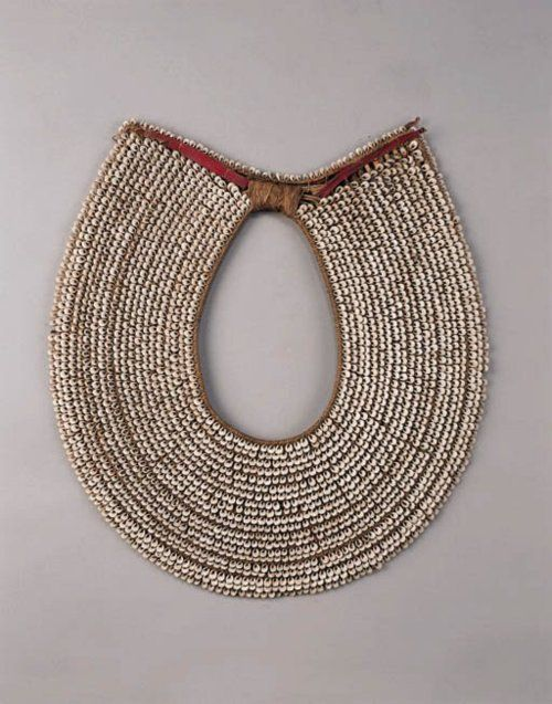 New Britain (Melanesia, South Pacific), Man's Collar Necklace, shells:plant fibers, c. 1900.